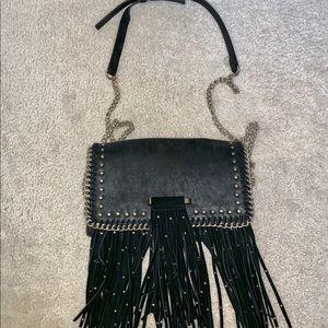Macy's Bags - ROCKSTAR STUDDED FRING STATEMENT SHOULDER BAG